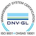 Лого на DNV.GL, показващо сертификацията за сигурност на транспортна фирма СИГДА ООД
